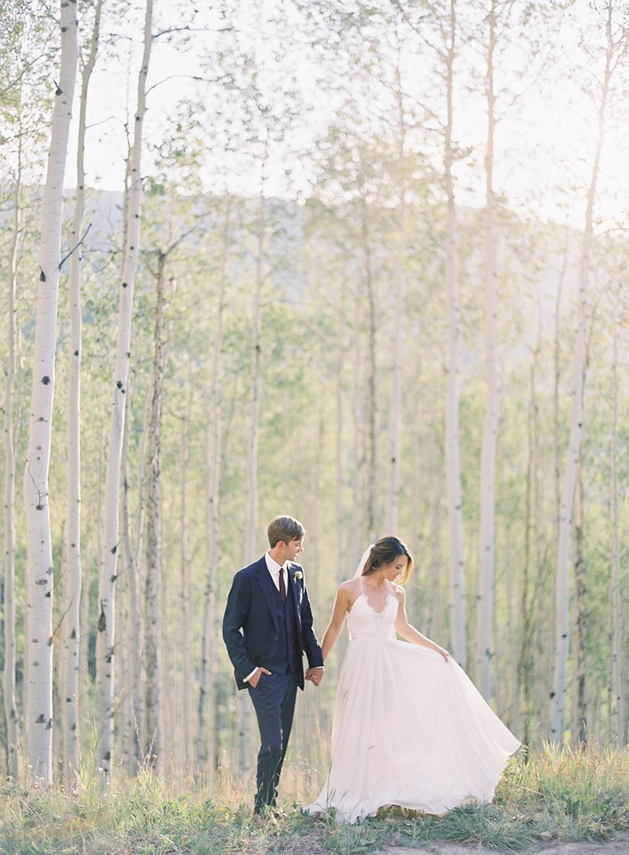 Colorado Wedding Couple on Film