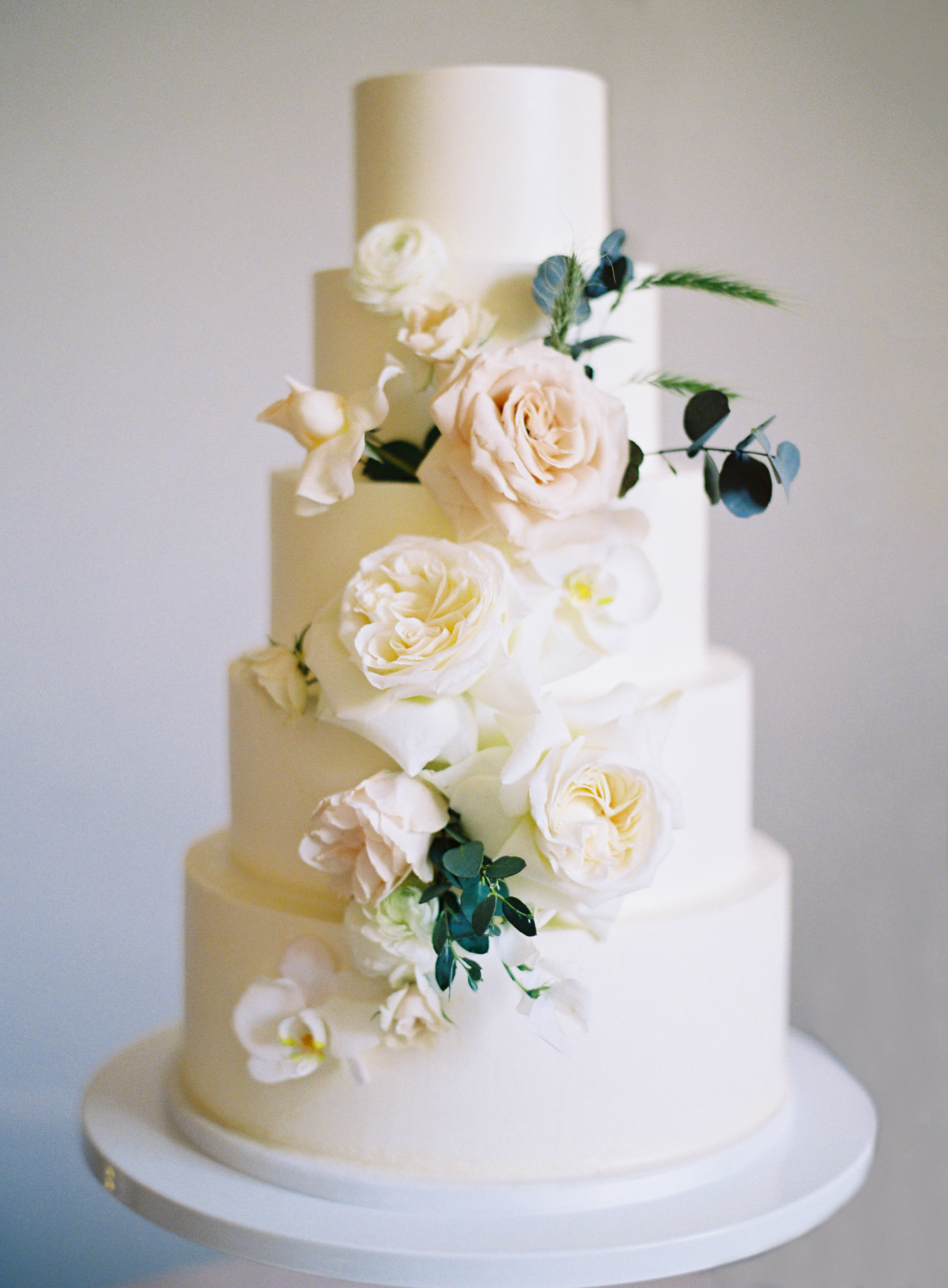 Tower Cake with fresh florals