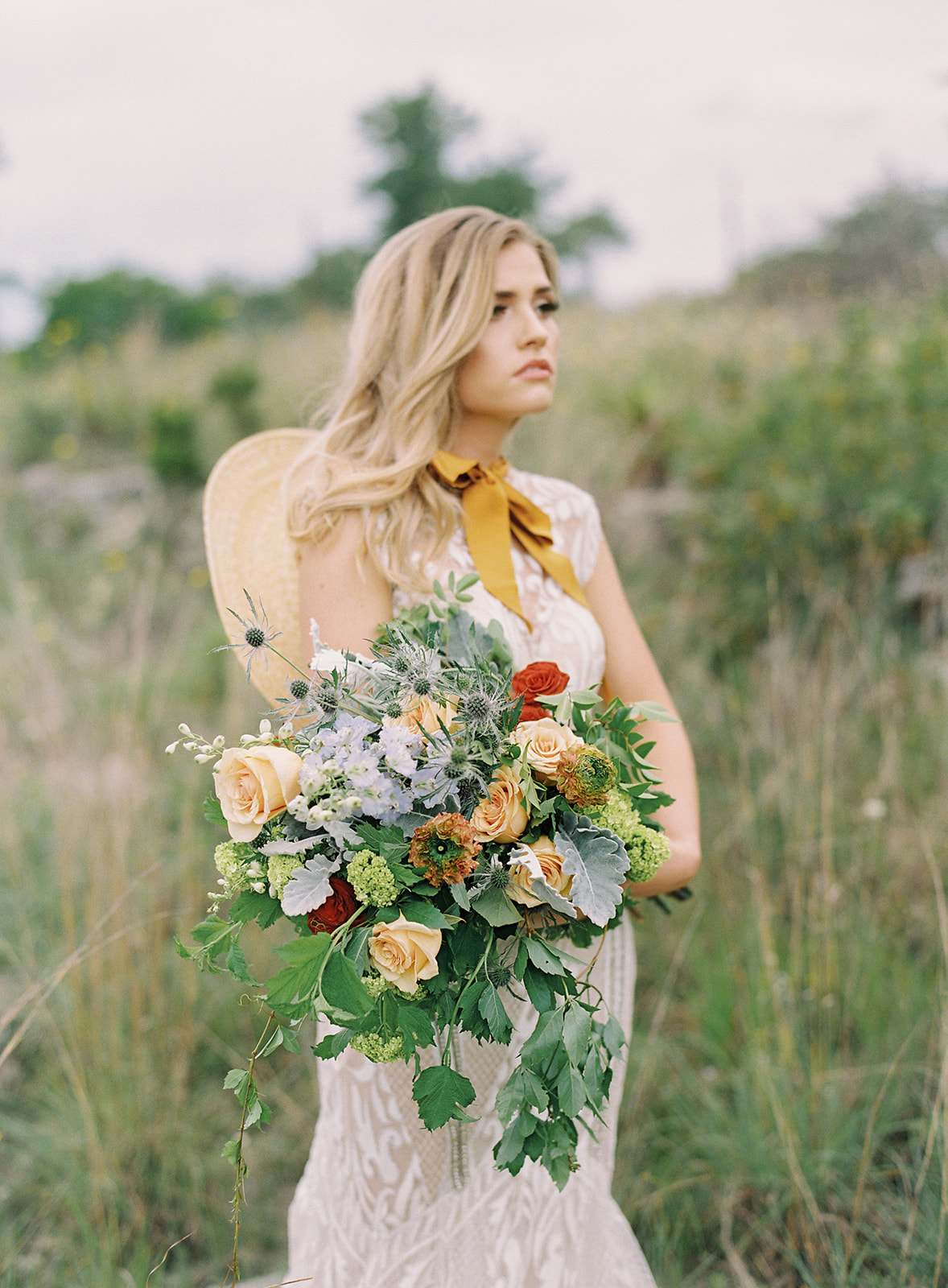 Summer Bride with Wildflowers