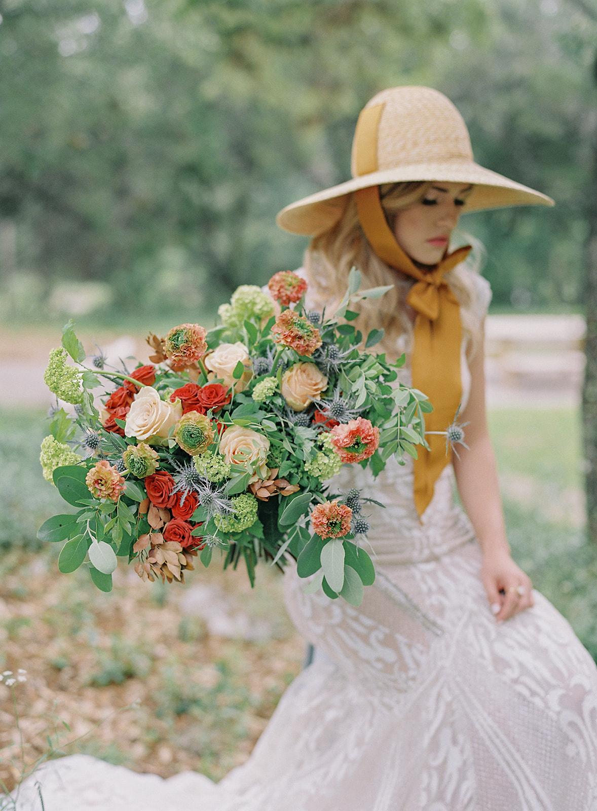 Bare Root Flora Bridal Bouquet