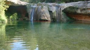 Toll del Vidre, río Algars