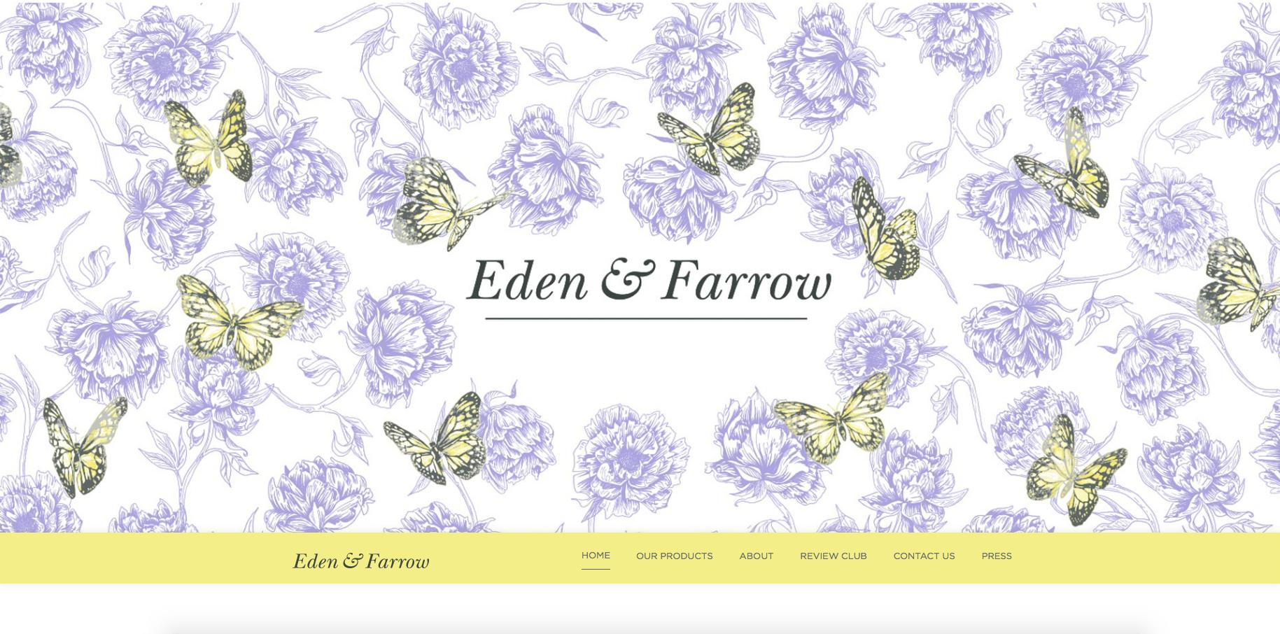 Eden & Farrow Cosmetic Range