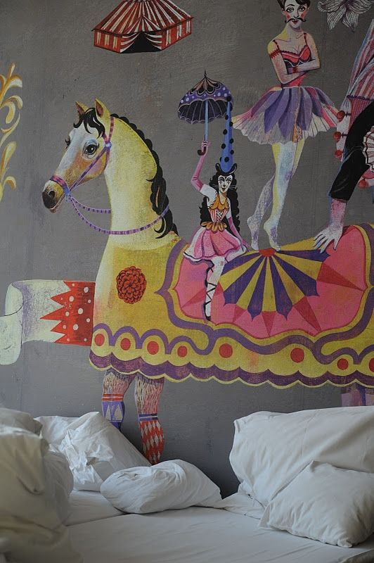 Circus themed mural