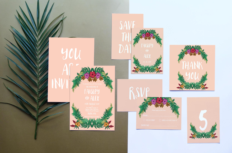 Deborah Panesar Tropical Wedding Stationery