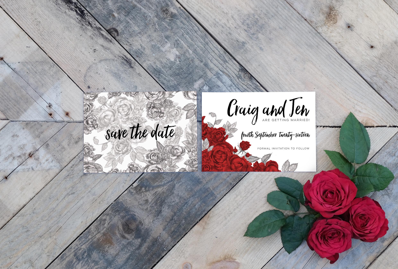 Deborah Panesar Roses Wedding Save the Date