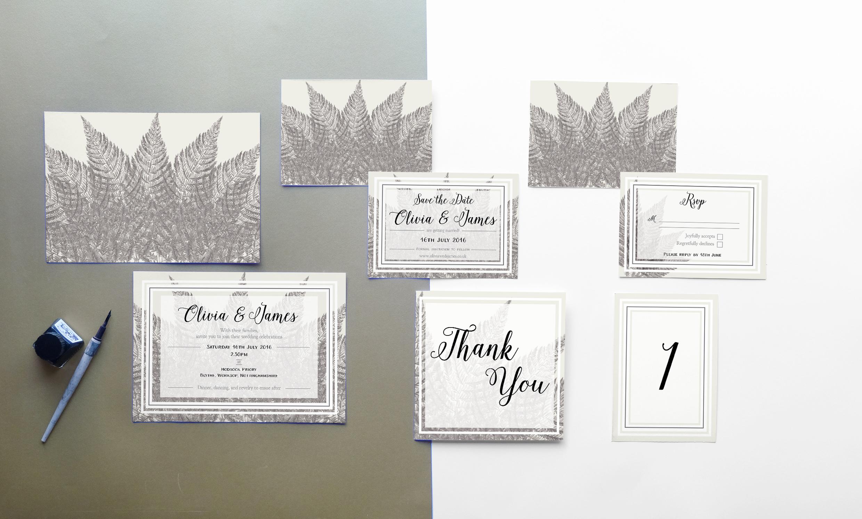 Deborah Panesar Woodland Wedding Stationery
