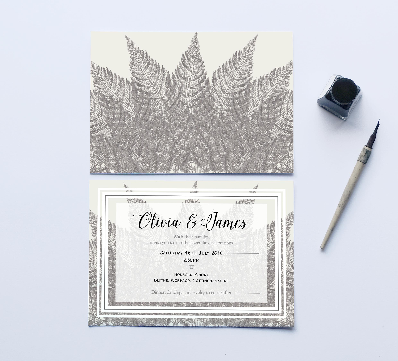 Deborah Panesar Woodland Wedding Invitation