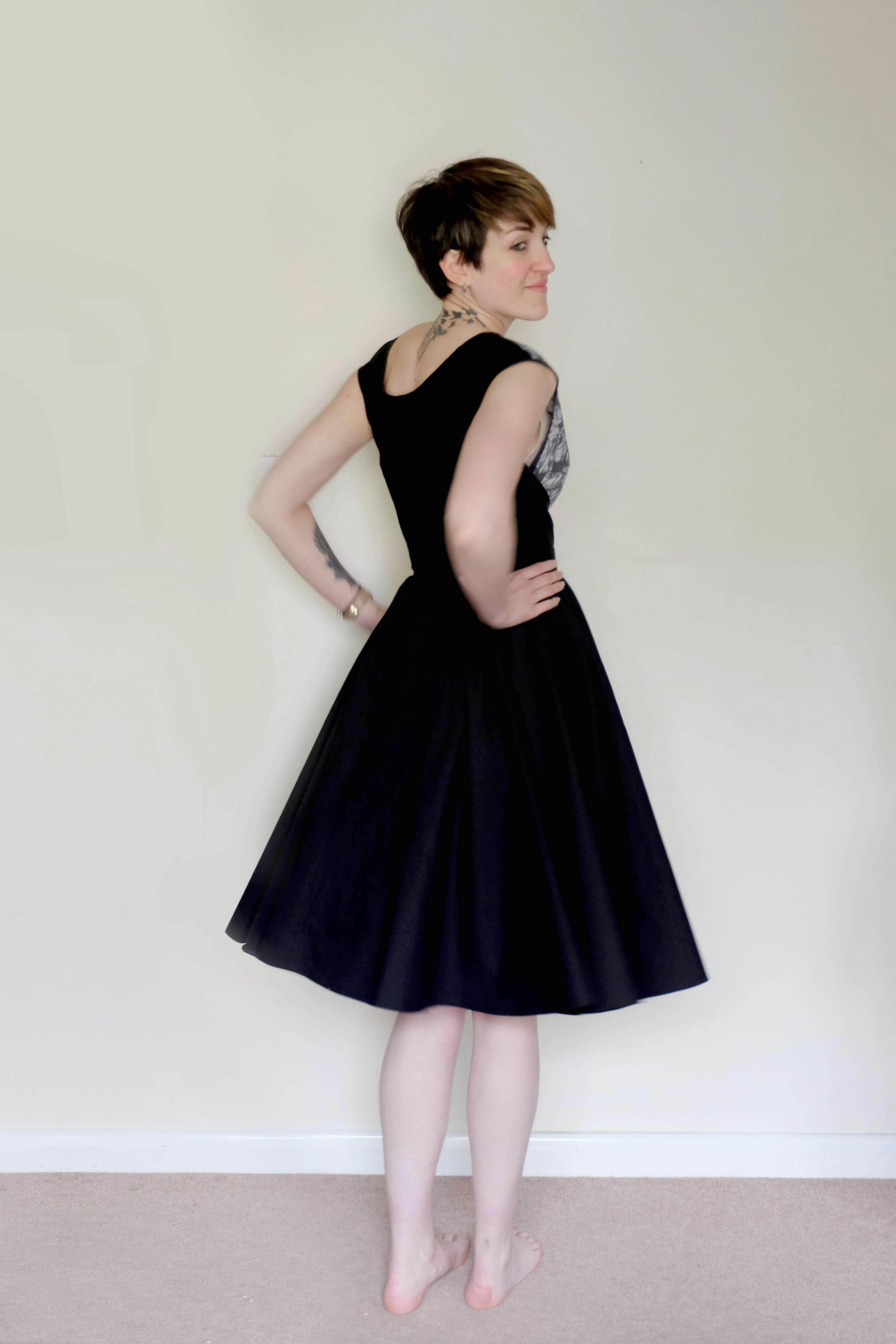 Misses Wrap Dress - back detail