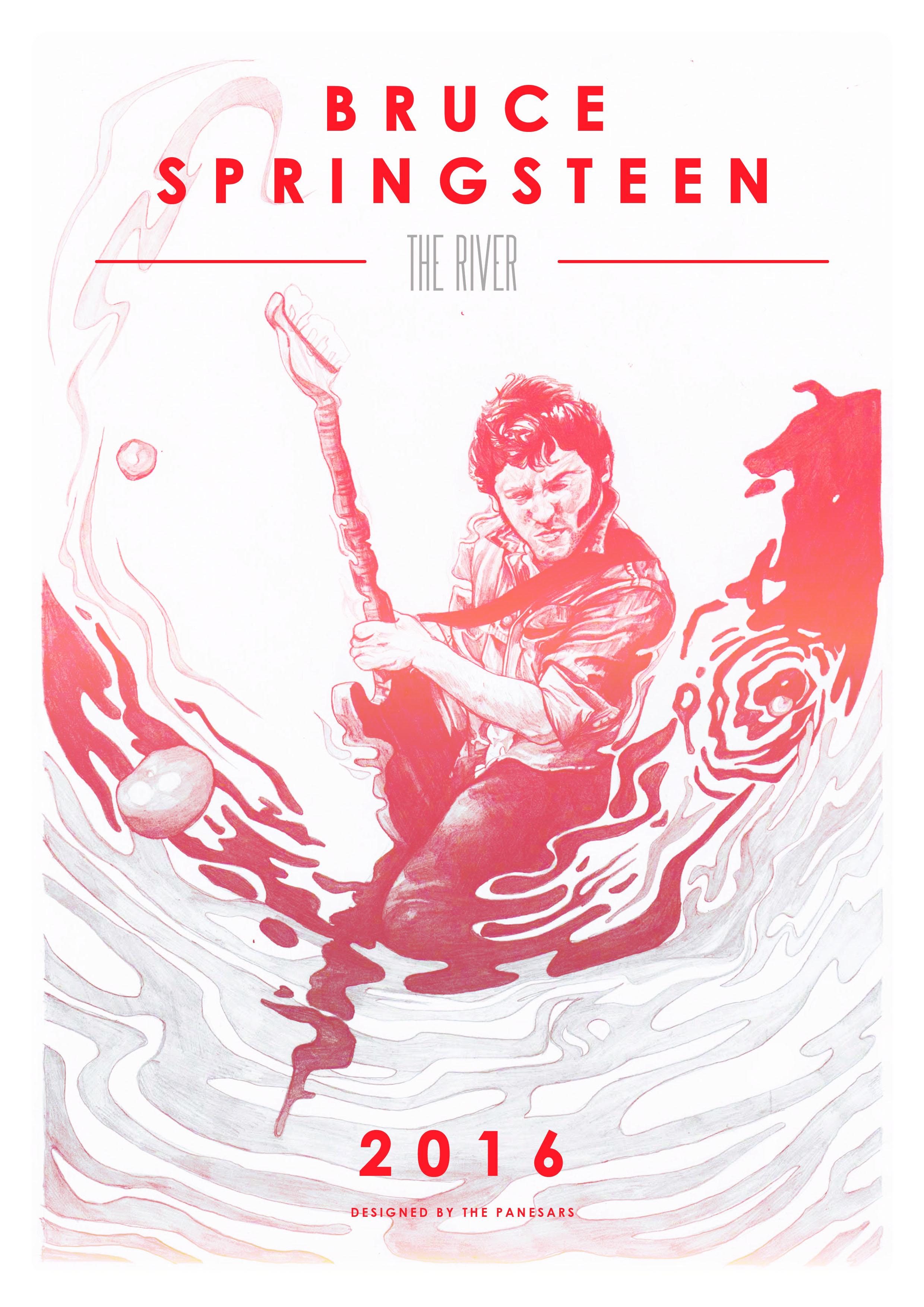 Bruce Springsteen Gig Poster