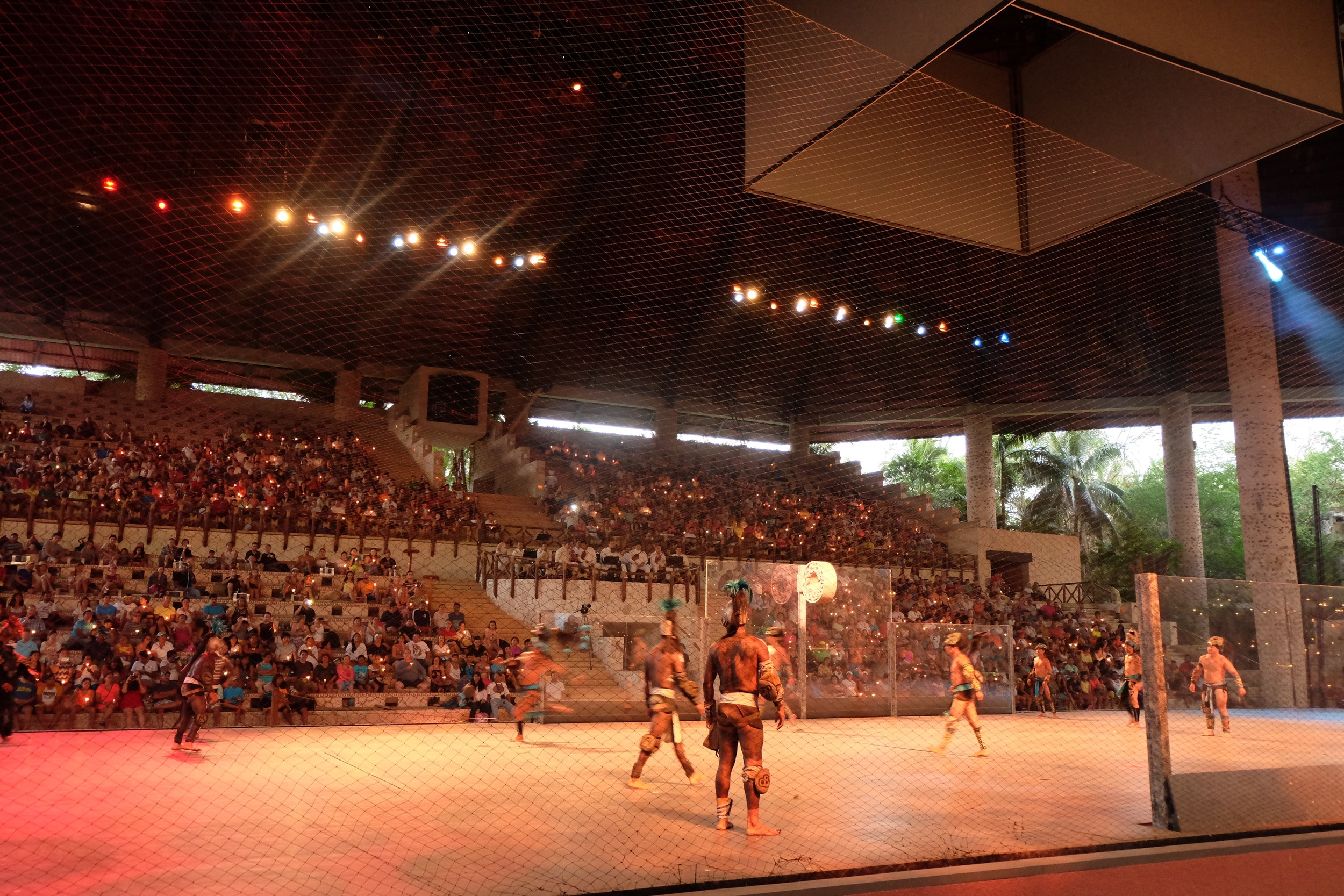 Live show of the Mayan ball game