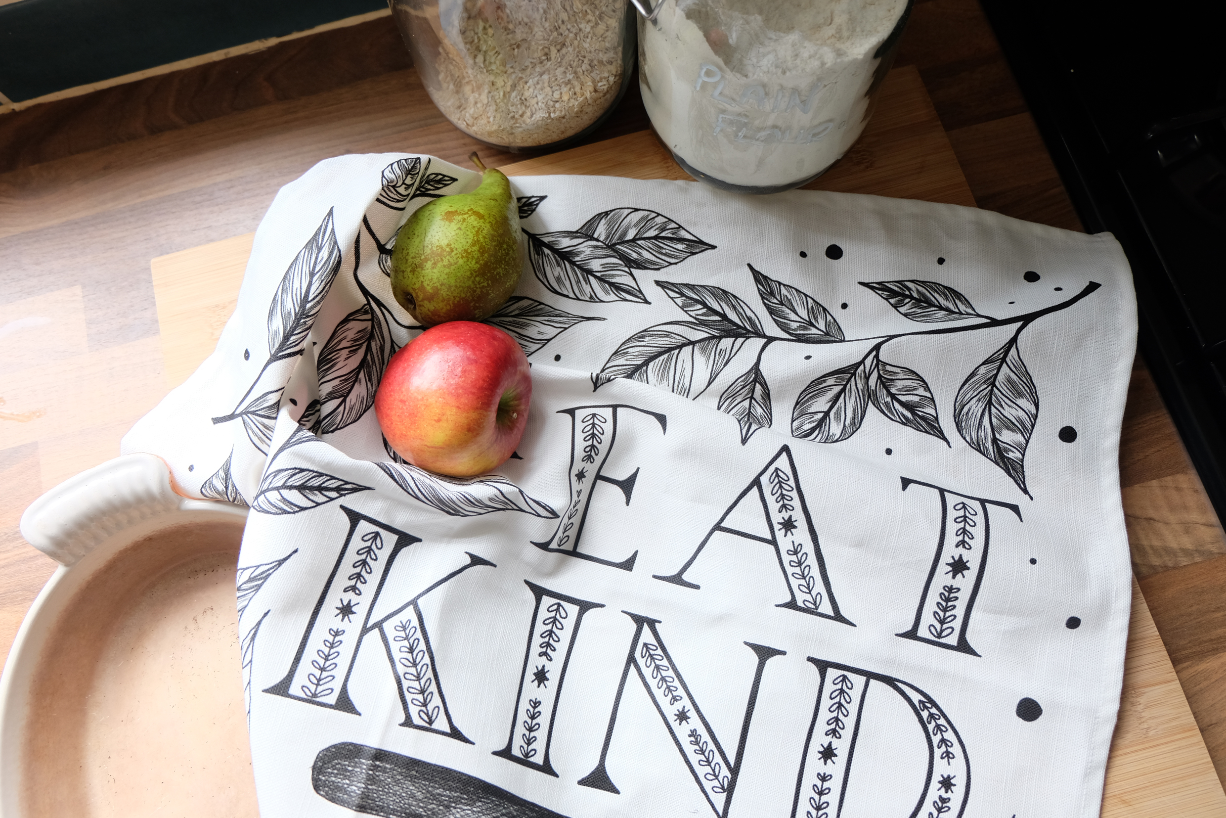 Brand new to my  Etsy Shop  -  Eat Kind Tea Towels