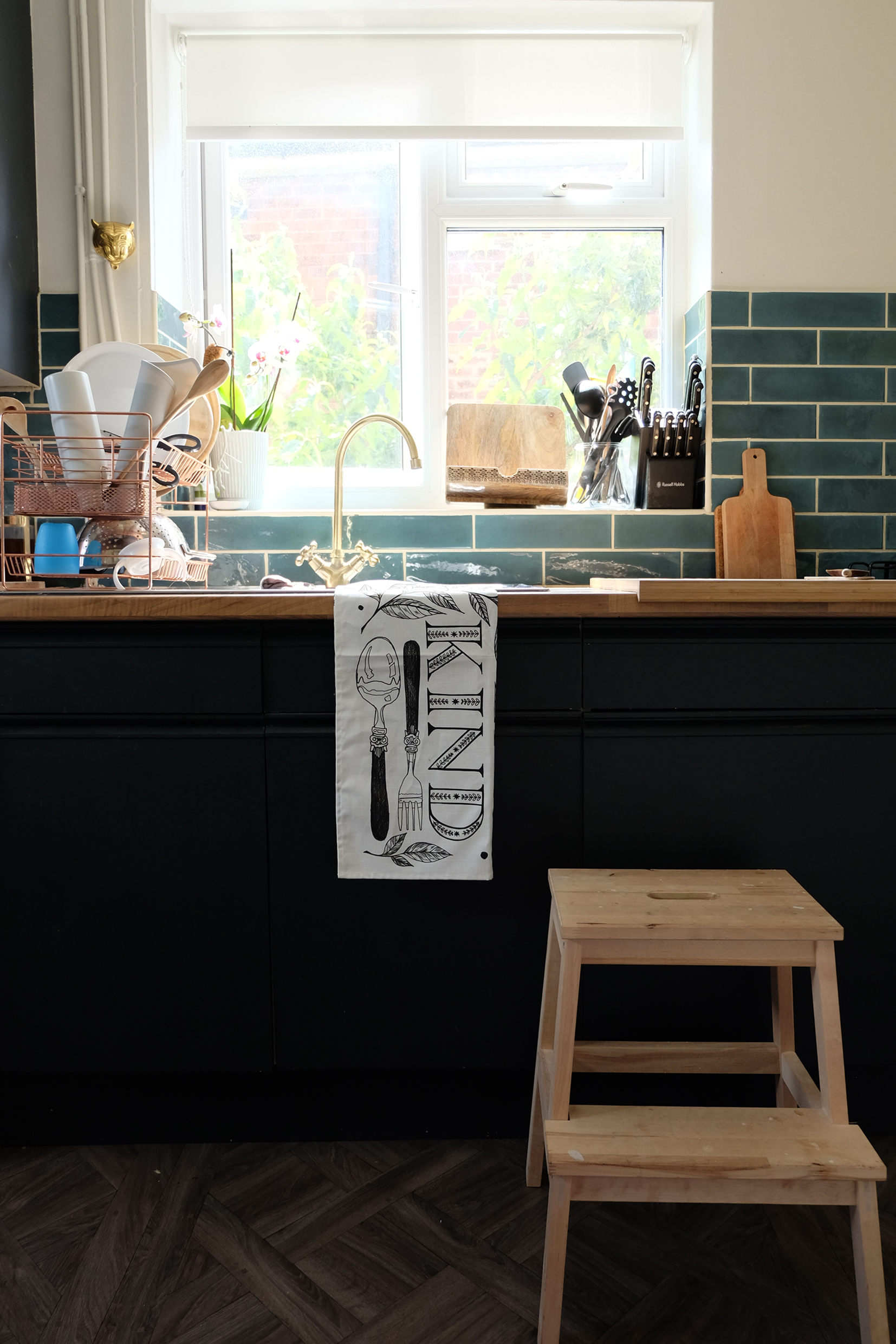 My Eat Kind tea towels are neutral, making them a perfect accessory for any kitchen style.