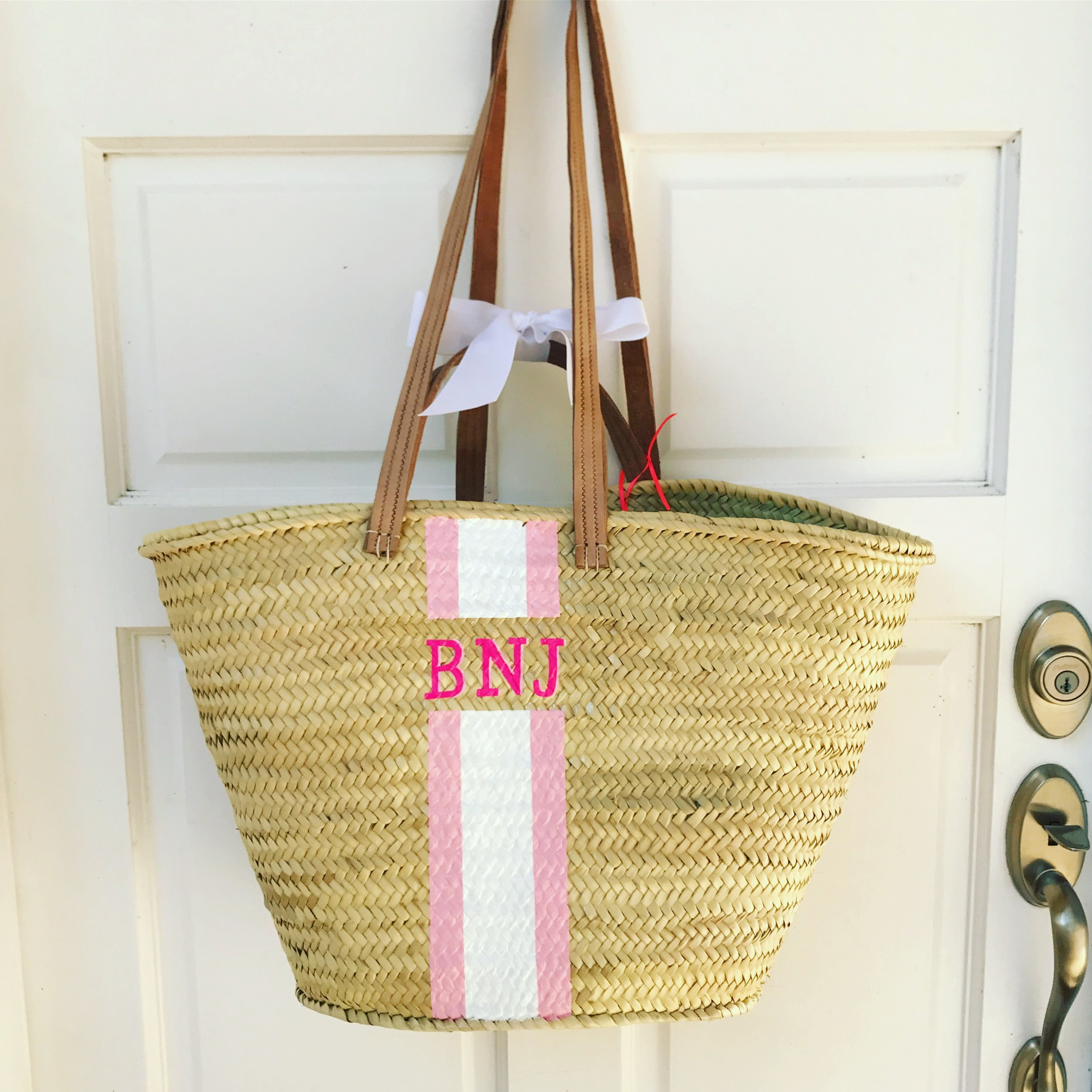 Baby Pink with Bright Pink Monogram