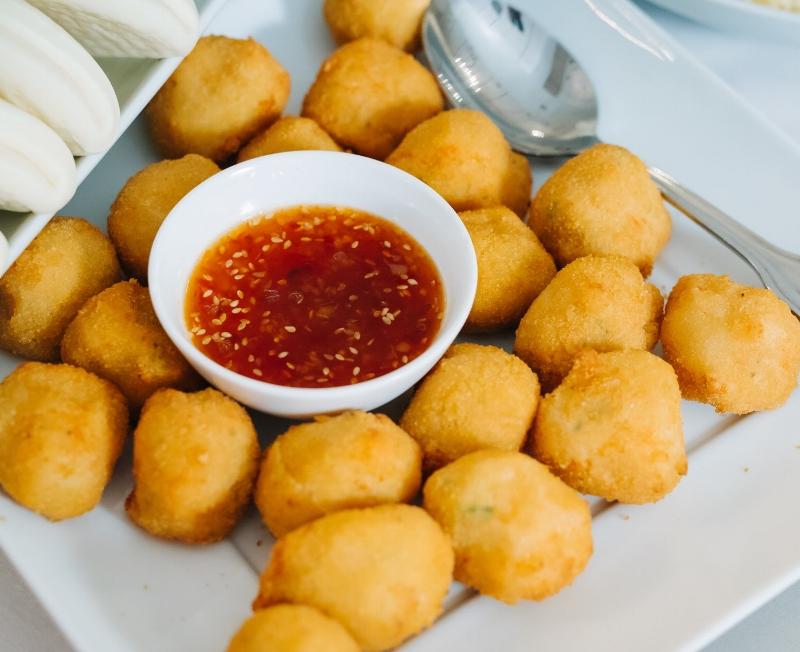 Shrimp balls   Chao tom vo vien
