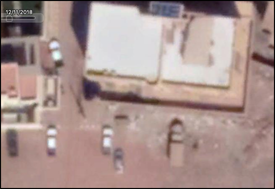 Image of possible Ural 42300 outside of alleged location of Meroe Gold, spotted by     Benjamin Strick   .