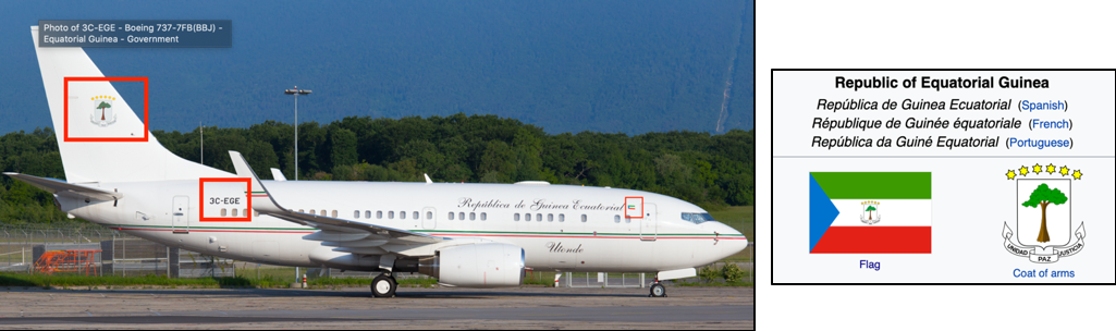 Equatorial Guinea-registered Boeing BBJ (3C-EGE) spotted in Geneva. Source:    JetPhotos   .