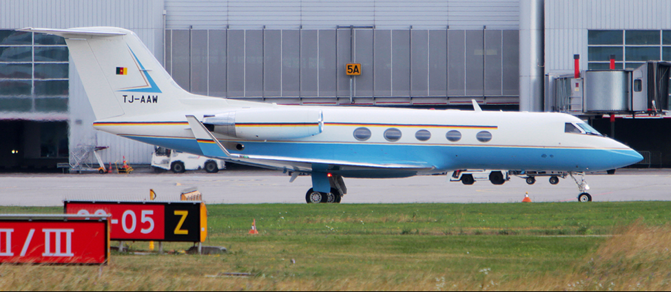 Cameroon Government Gulfstream III (Registration Number: TJ-AAW). Source:    https://www.jetphotos.com/photo/7834946   .