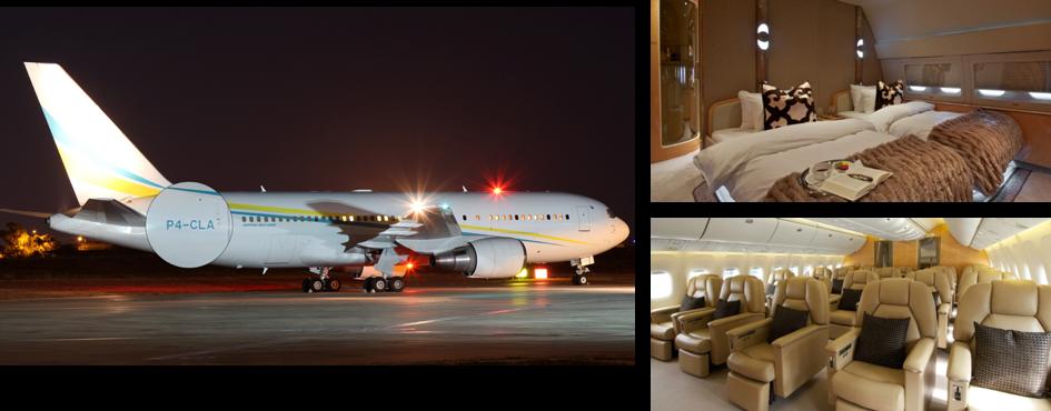 Aruba-registered Boeing 767-200 aircraft (P4-CLA) chartered by President Paul Biya and Former President of Zimbabwe Robert Mugabe. Source:    PlaneSpotters.net    and the    Zimbabwe Independent   .