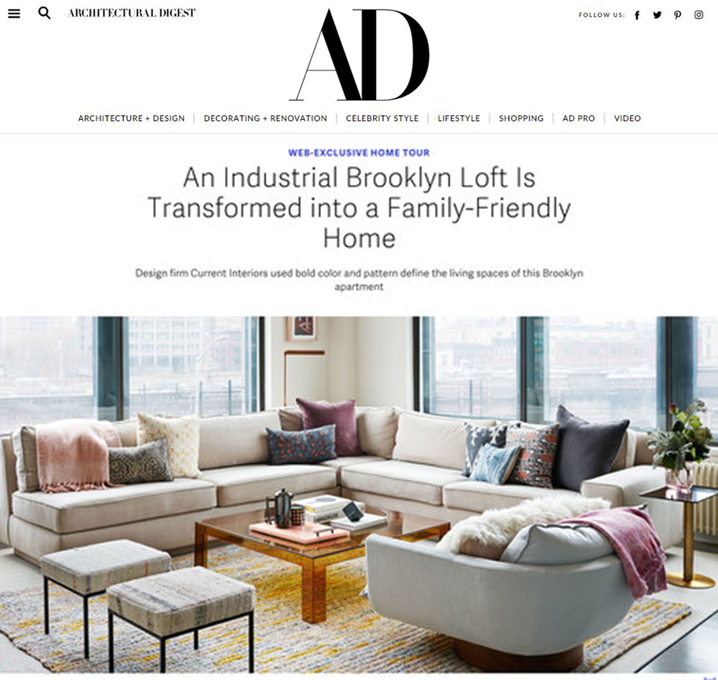 - Architectural DigestJanuary, 2016For many interior designers, an 1,800-square-foot Brooklyn loft would be an invitation to embrace minimalism or industrial details, but that wasn't the case for Rachel Kane and Xandro Aventajado of the New York–based firm Current Interiors...