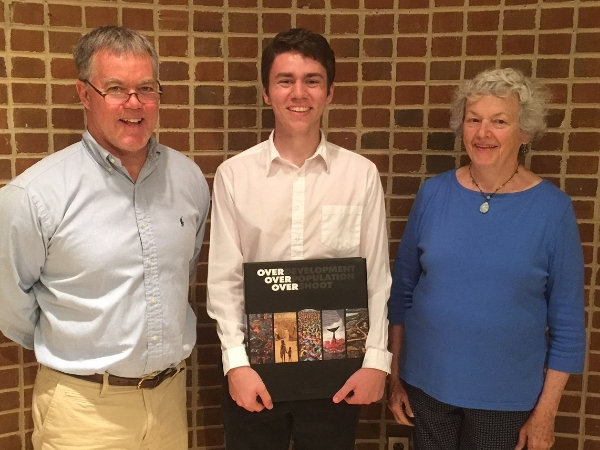 2016 Francis Fife Scholarship winner, Sam Dreyfus, with ASAP President, DAVE Shreve, and Nancy O'Brien, Wife of the Late Francis FIFE.
