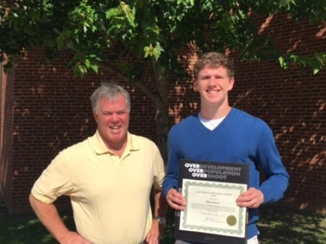 2017 Fife Scholarship Recipient, Silas Beers, with ASAP President Dave Shreve