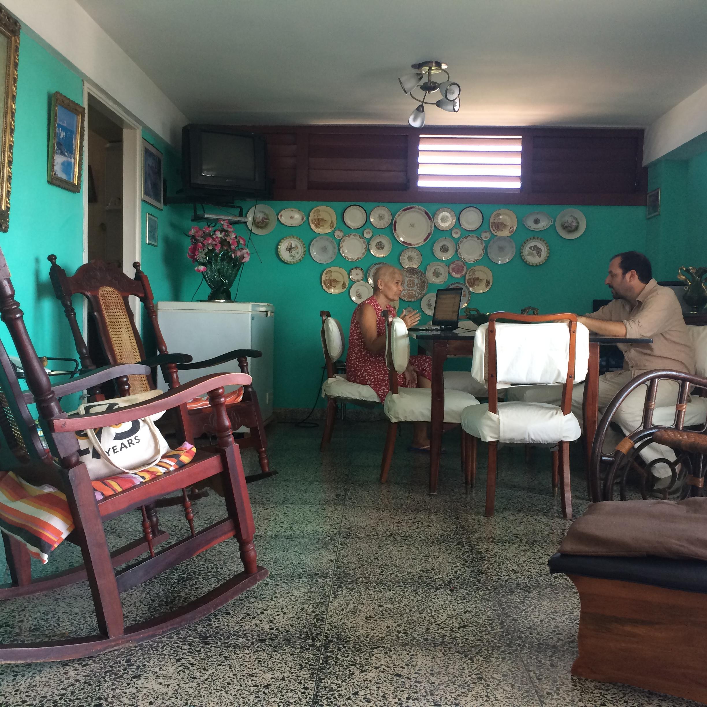 Our lovely host in Havana.