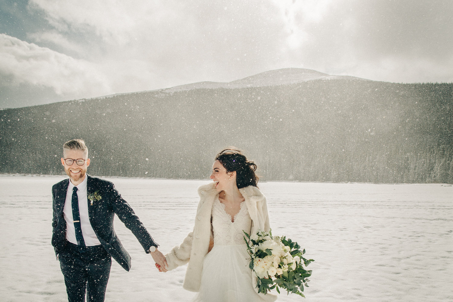 1.9.16 - we got married on the most magical day in denver, co, it felt like the best dream. we dragged all of our best friends onto a frozen lake in dress clothes at 8am ... anything for a good picture & memory!