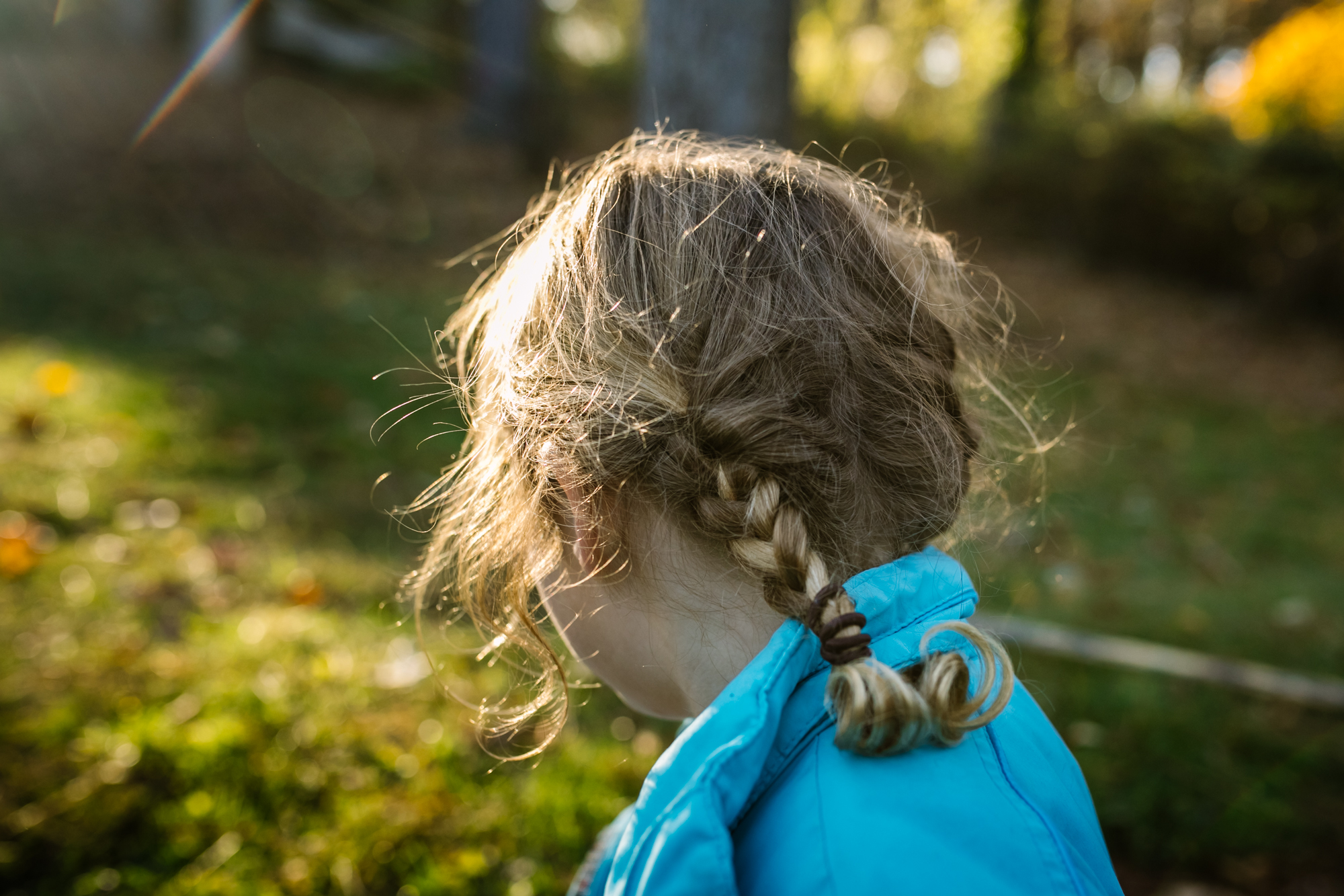 A picture of a girl's braid