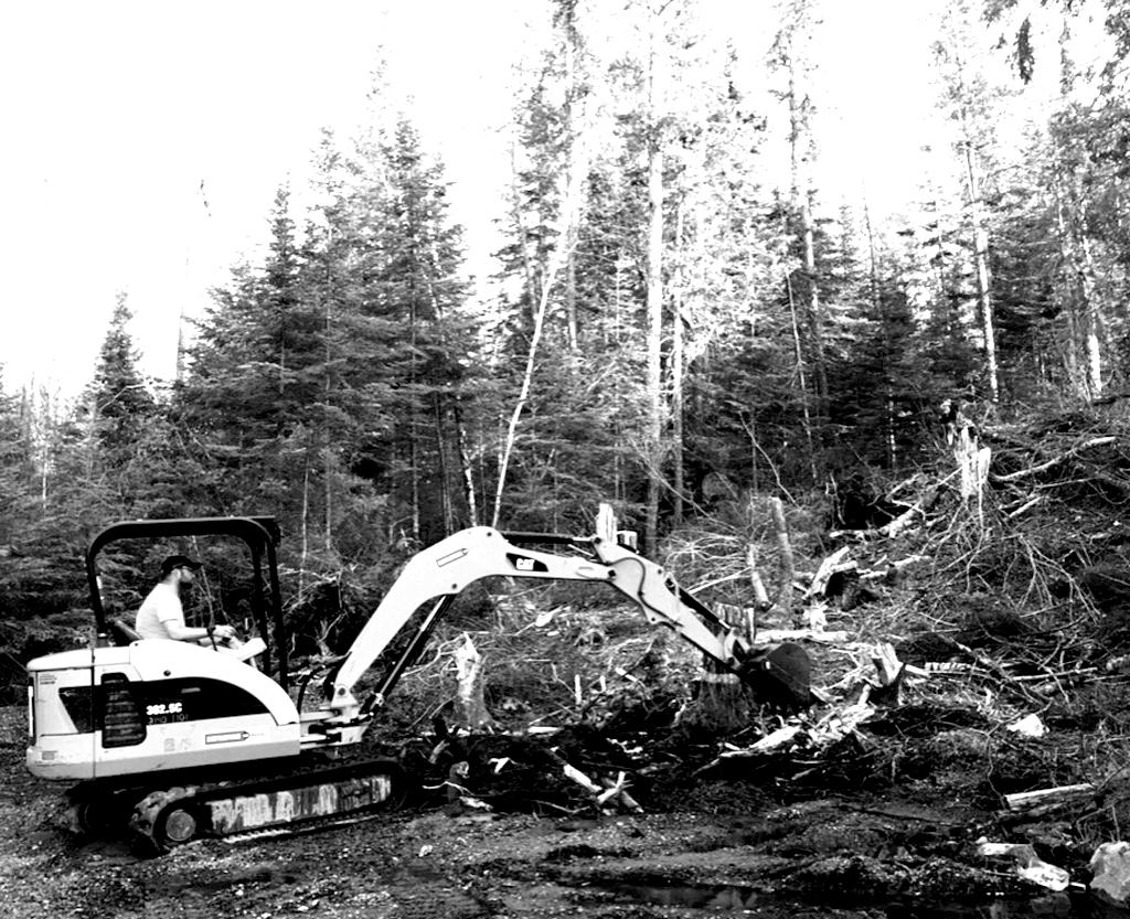 Breaking ground at Tannis Lake.