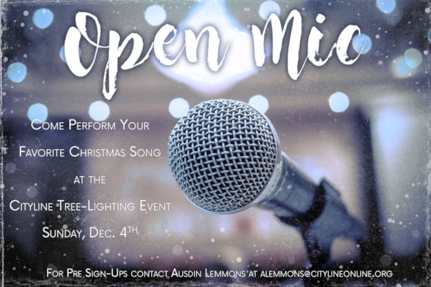 *To sign up to perform during Christmas Open Mic, email  here   .