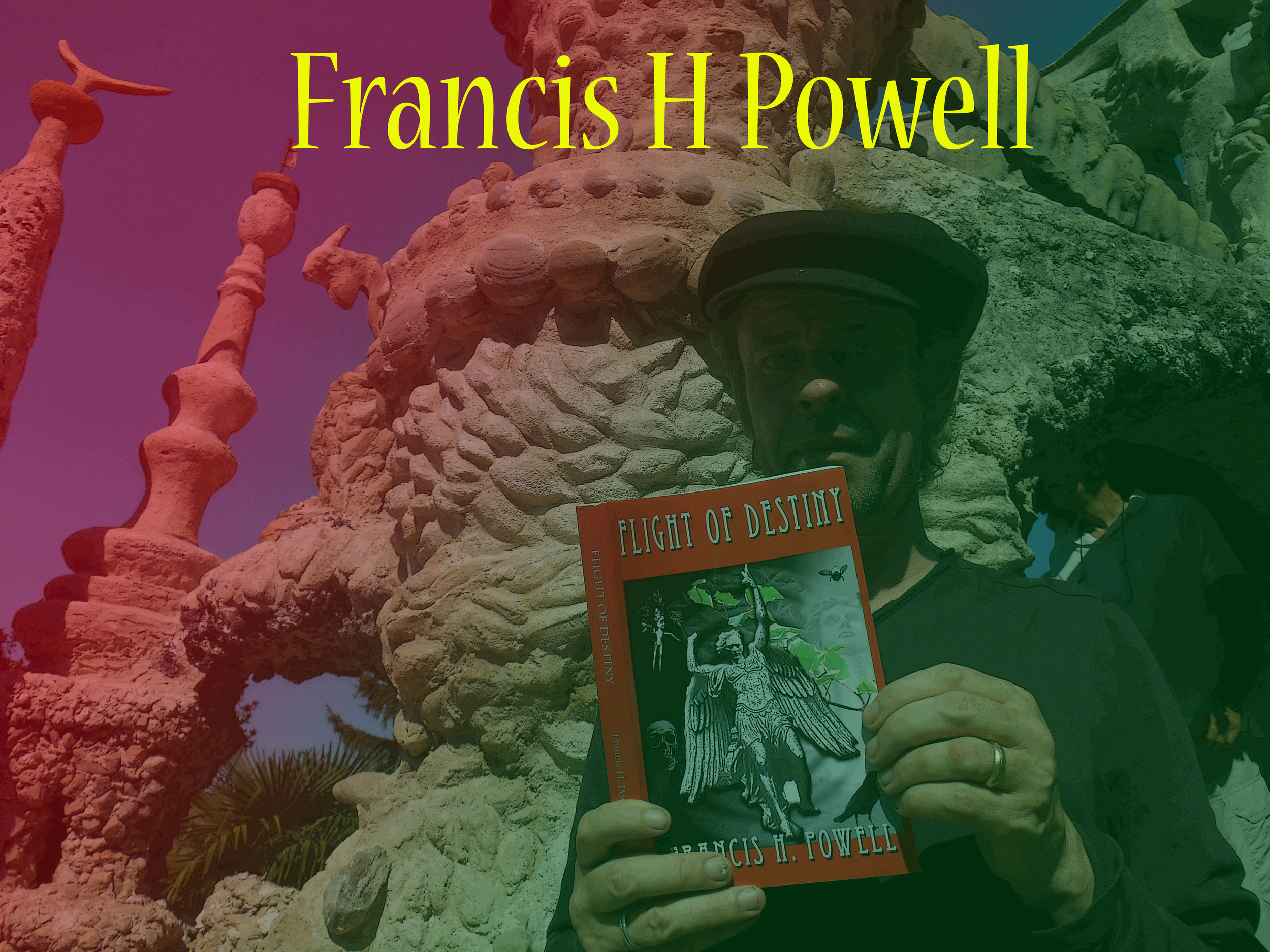 Author Francis H. Powell with his book Flight of Destiny