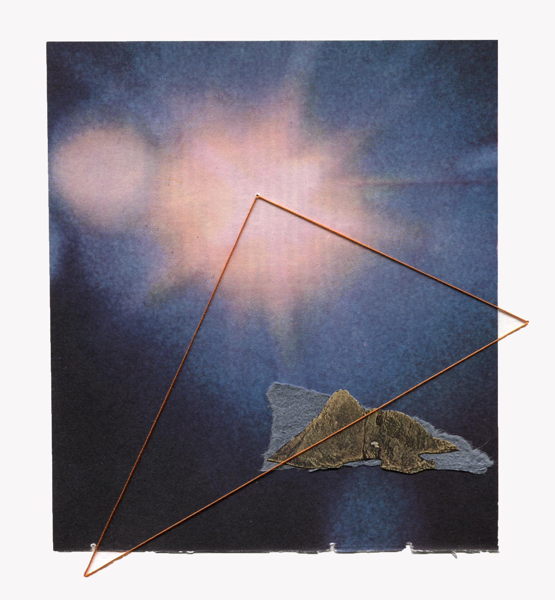 """""""algo resplandece en pleno cielo""""  Dimensiones: 21 x 19 cm  50€ + gastos de envío"""