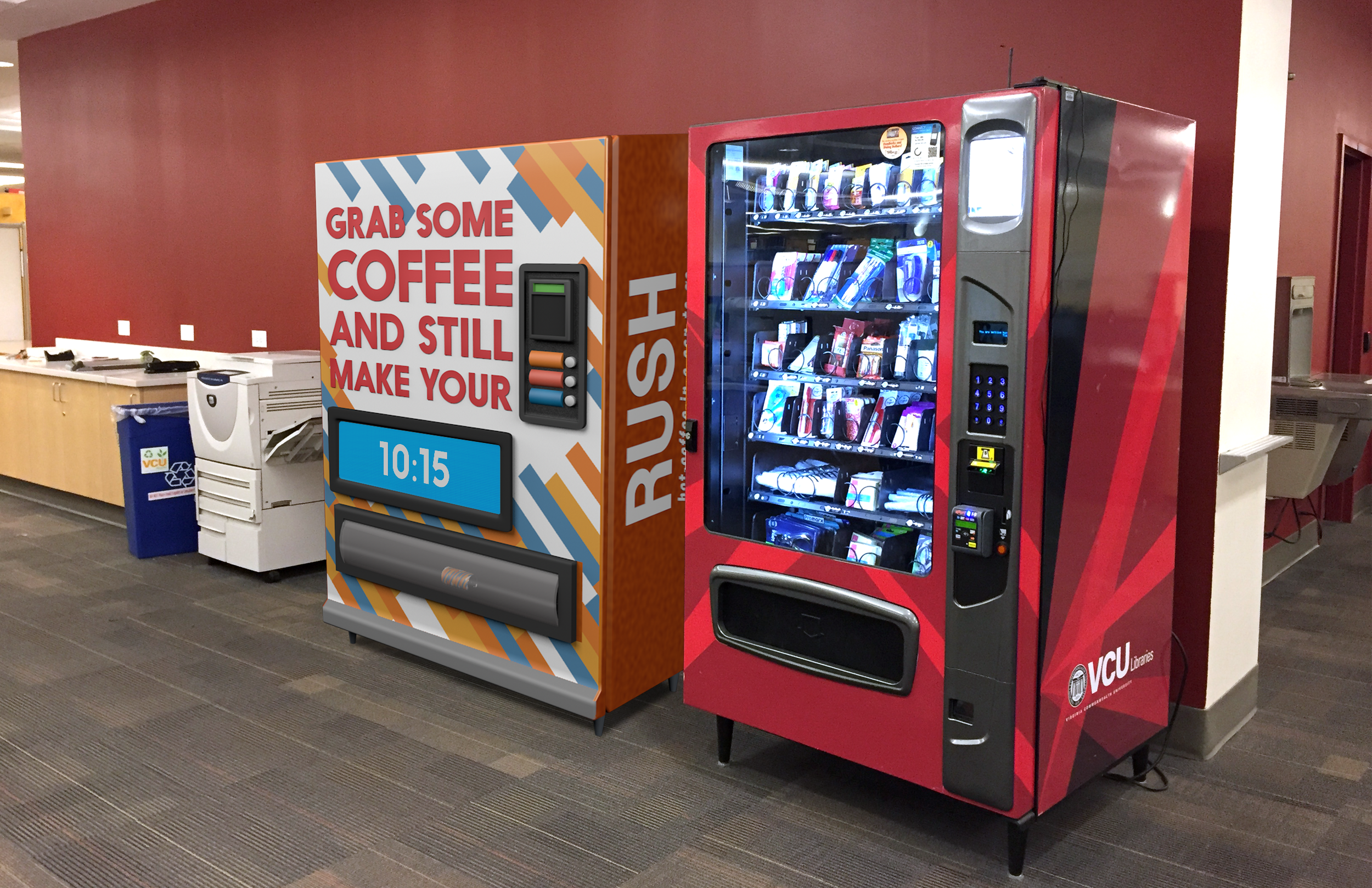 A lot of students fall into our target, so placing RUSH machines on college campuses would be a smart parnership