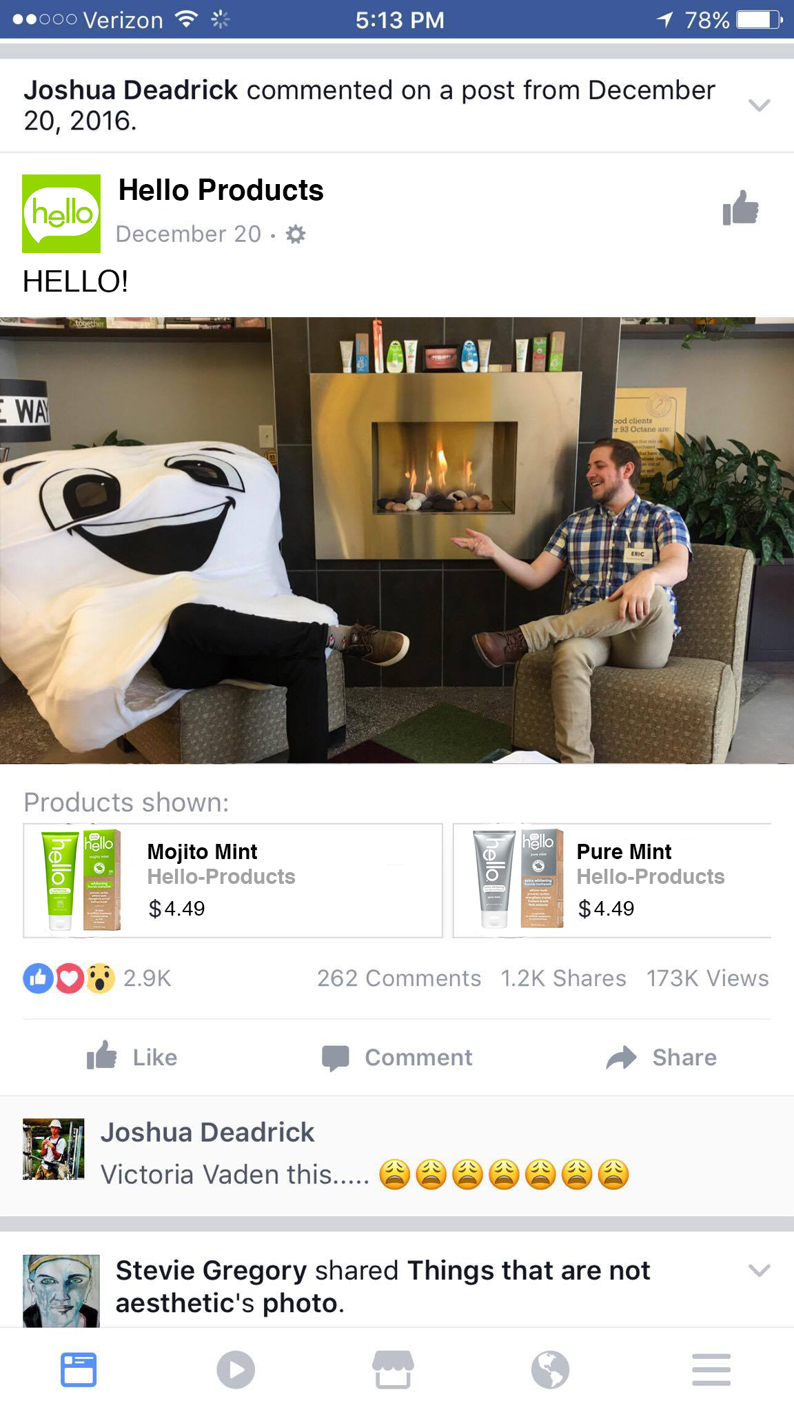 Facebook Featured Products