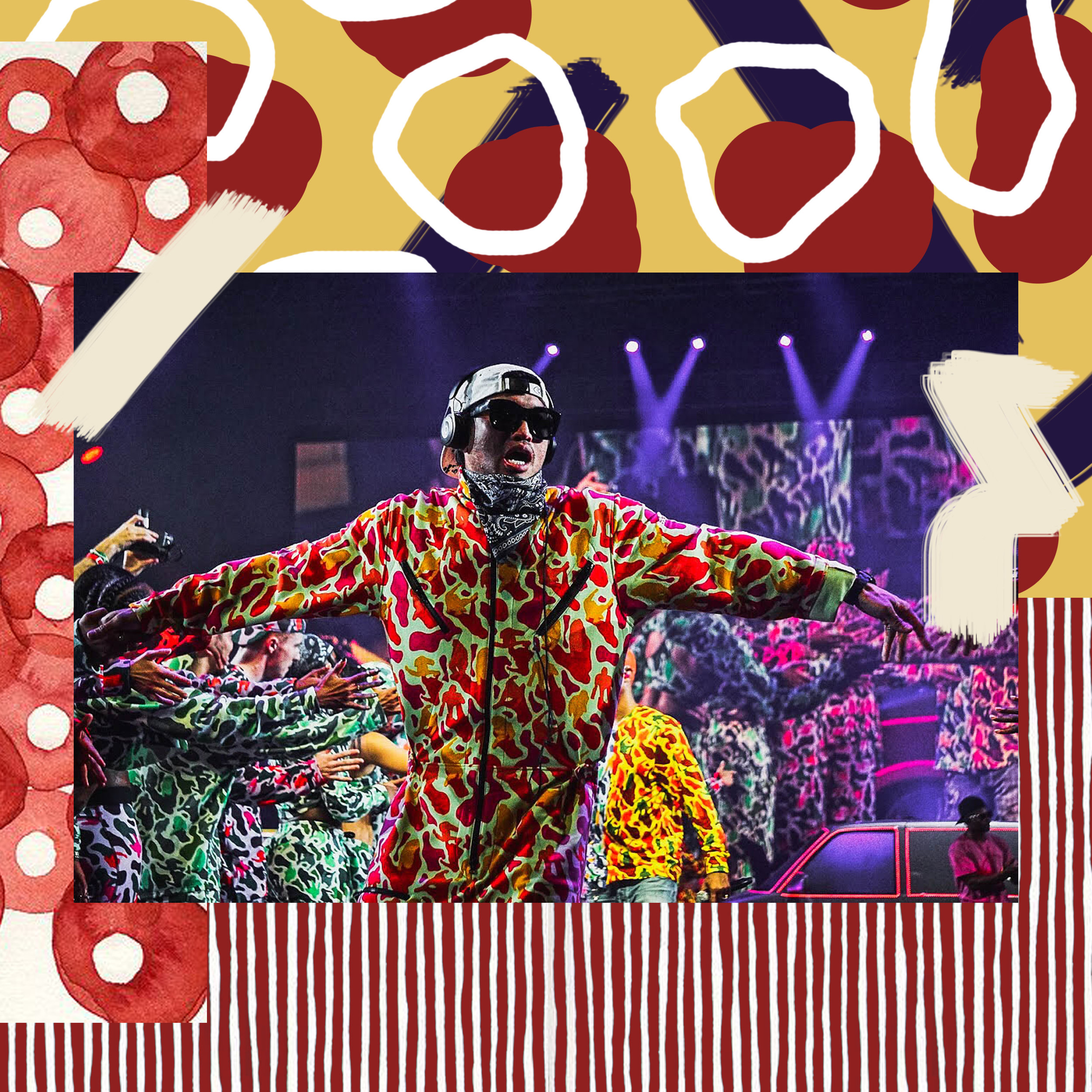 CHAD HUGO DANCES TO NEW N.E.R.D ALBUM,  NO_ONE EVER REALLY DIES , AT COMPLEXCON IN LONG BEACH NOVEMBER 4 / PHOTO CREDIT:  ASHA MONÉ  / DESIGN CREDIT:  VANESSA ACOSTA