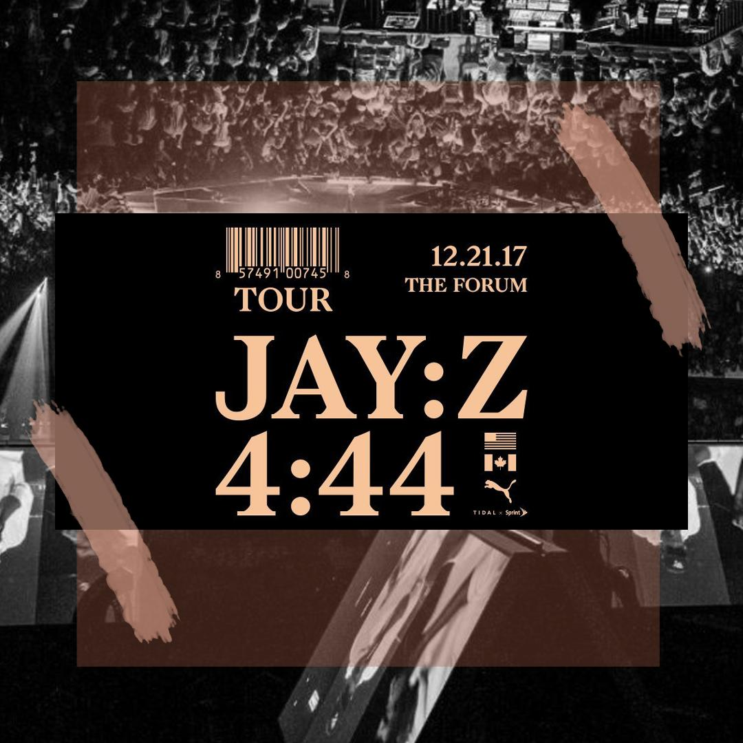JAY-Z 'S 4:44 POSTER FOR HIS TOUR/ PHOTO CREDIT:  JAY-Z  / DESIGN CREDIT:  VANESSA ACOSTA