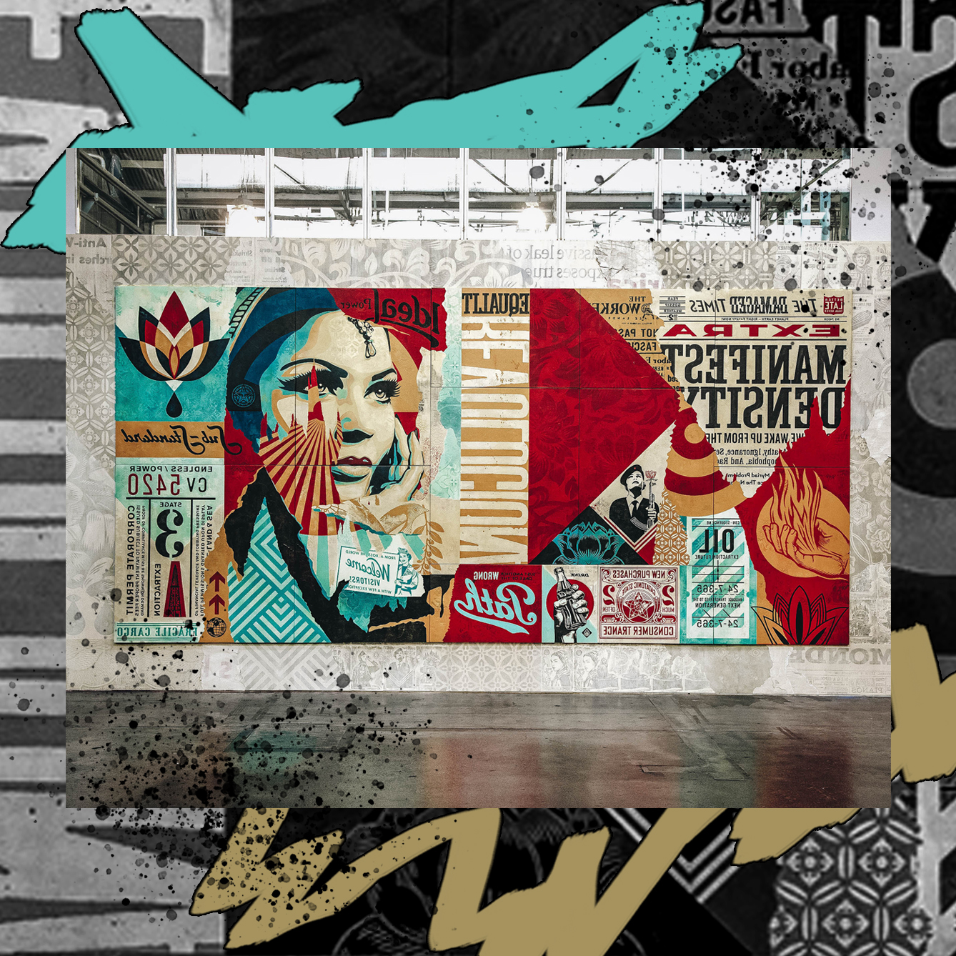 SHEPARD FAIREY'S WORK IS INFUSED WITH SOCIAL COMMENTARY /  DESIGN CREDIT: VANESSA ACOSTA