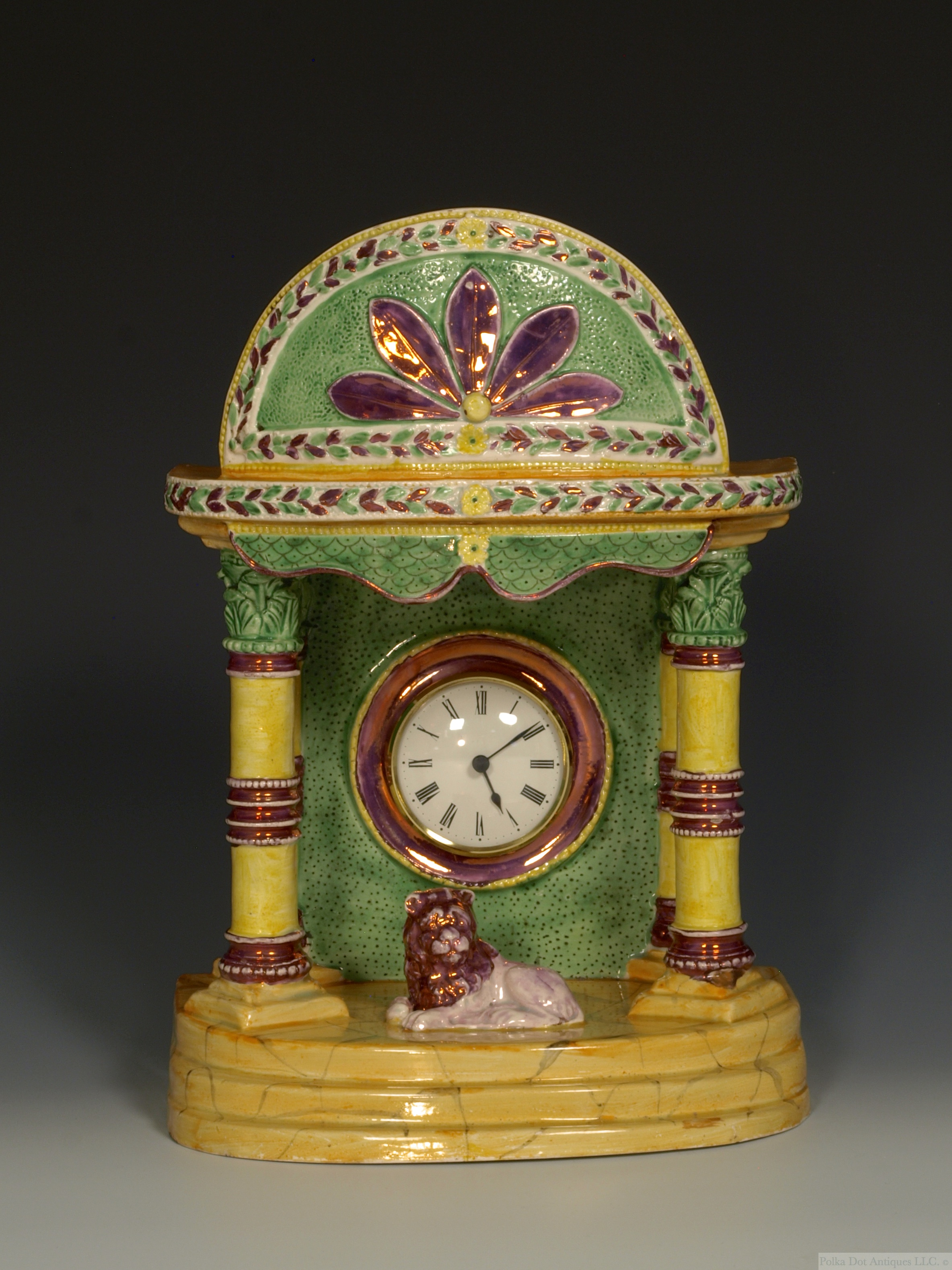 Rare Thomas Fell Pearlware Lustre Watch Hutch, c.1820