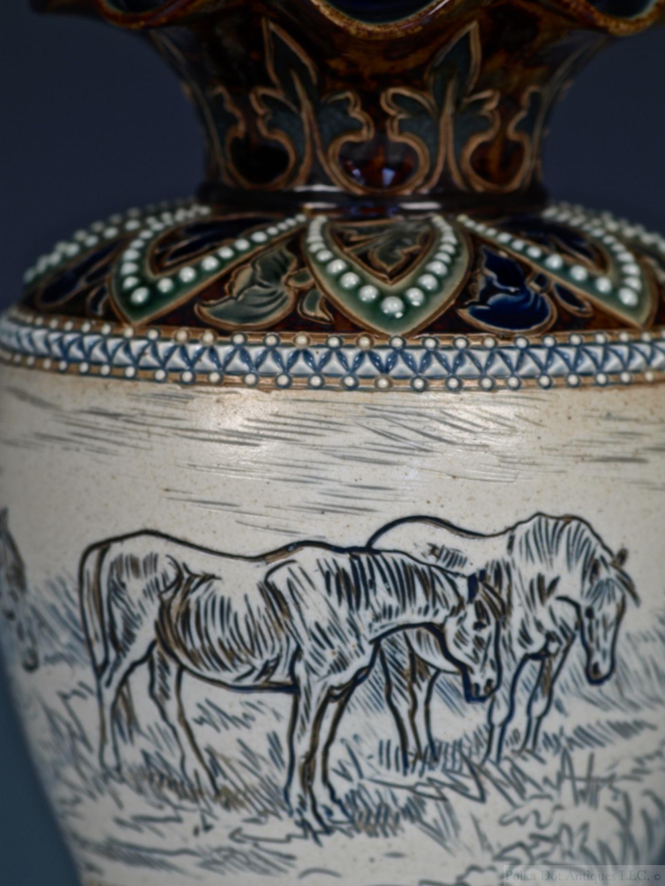 rpw357 Doulton Horse vase - 5.jpg