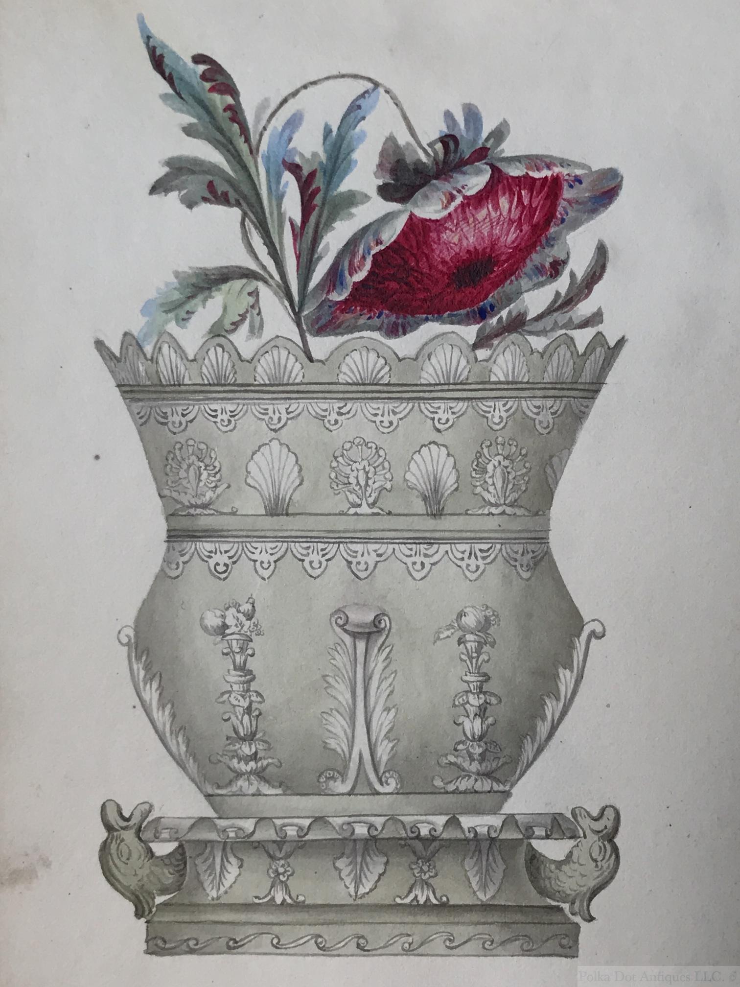Machin & Potts, Waterloo China Works. Burslem, Shape Book, 1830s, comprising 52 designs.