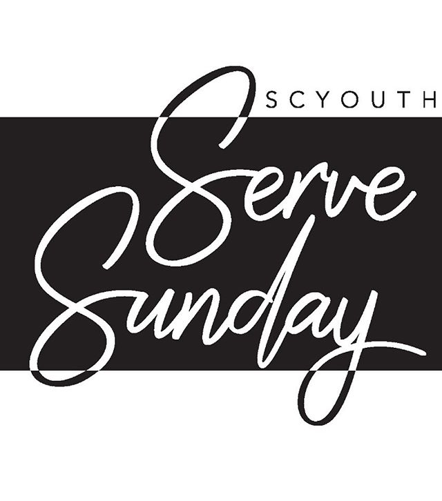 Serve Sunday is this week! Please arrive by 9:15 to be placed to serve.