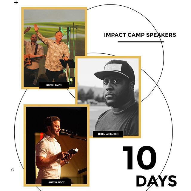 Kelvin Smith, Jeremiah Bligen, and Austin Biddy are our 3 speakers for Impact 2019