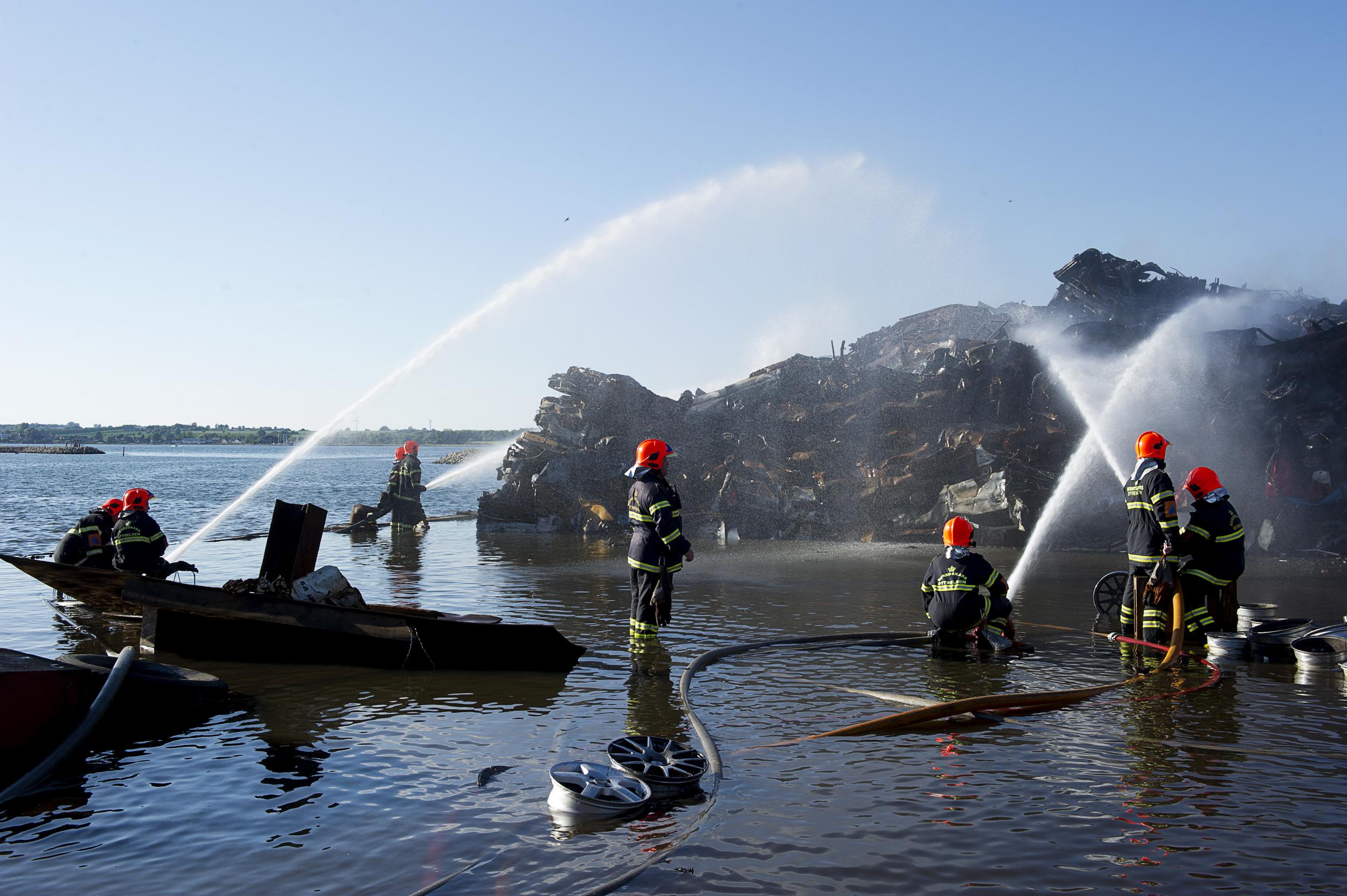 Brand på Holbæk Havn