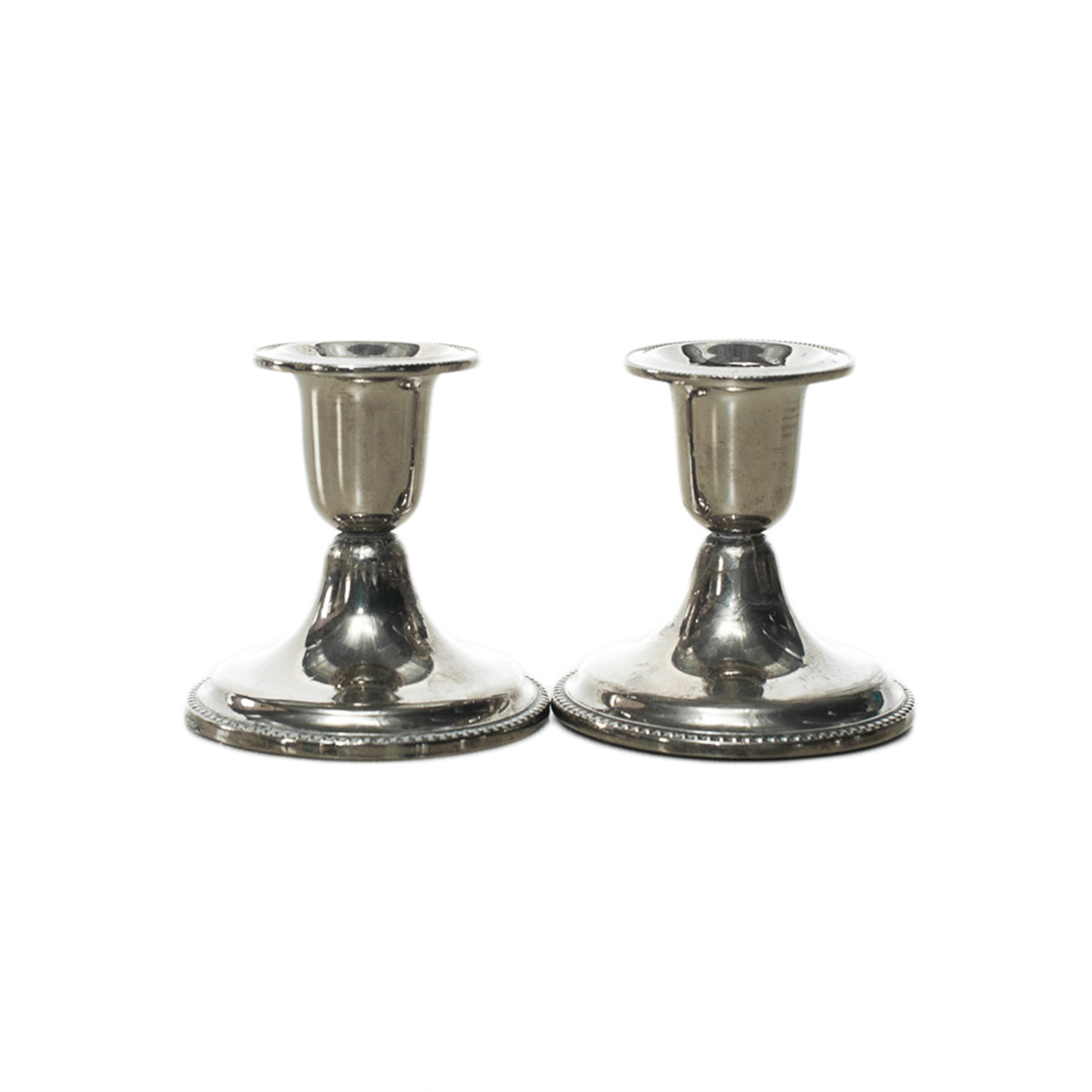 Silver Candlestick Holders