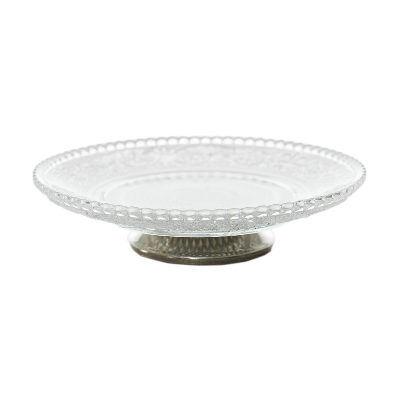 Glass Silver Dish