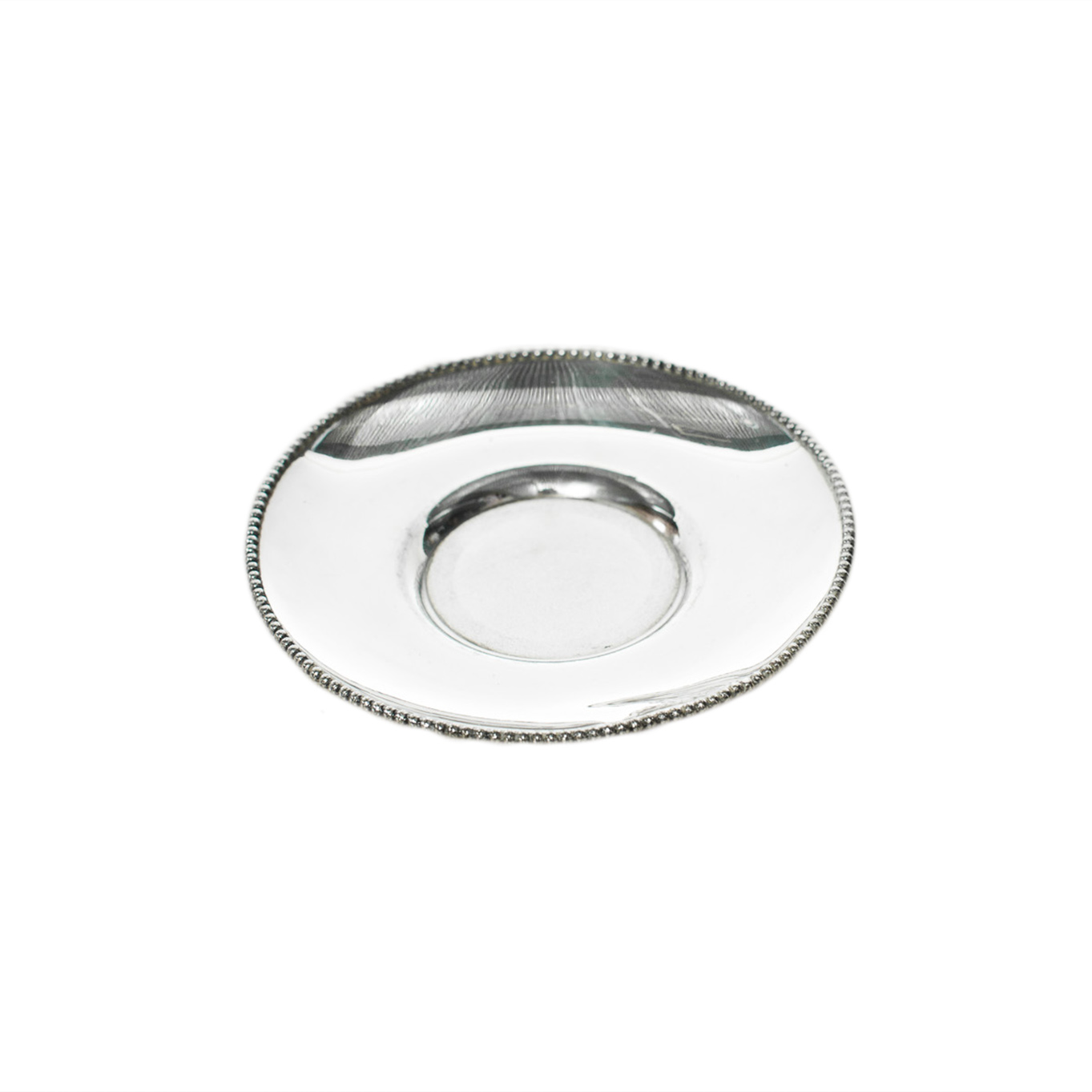 Silver Teacup Plate