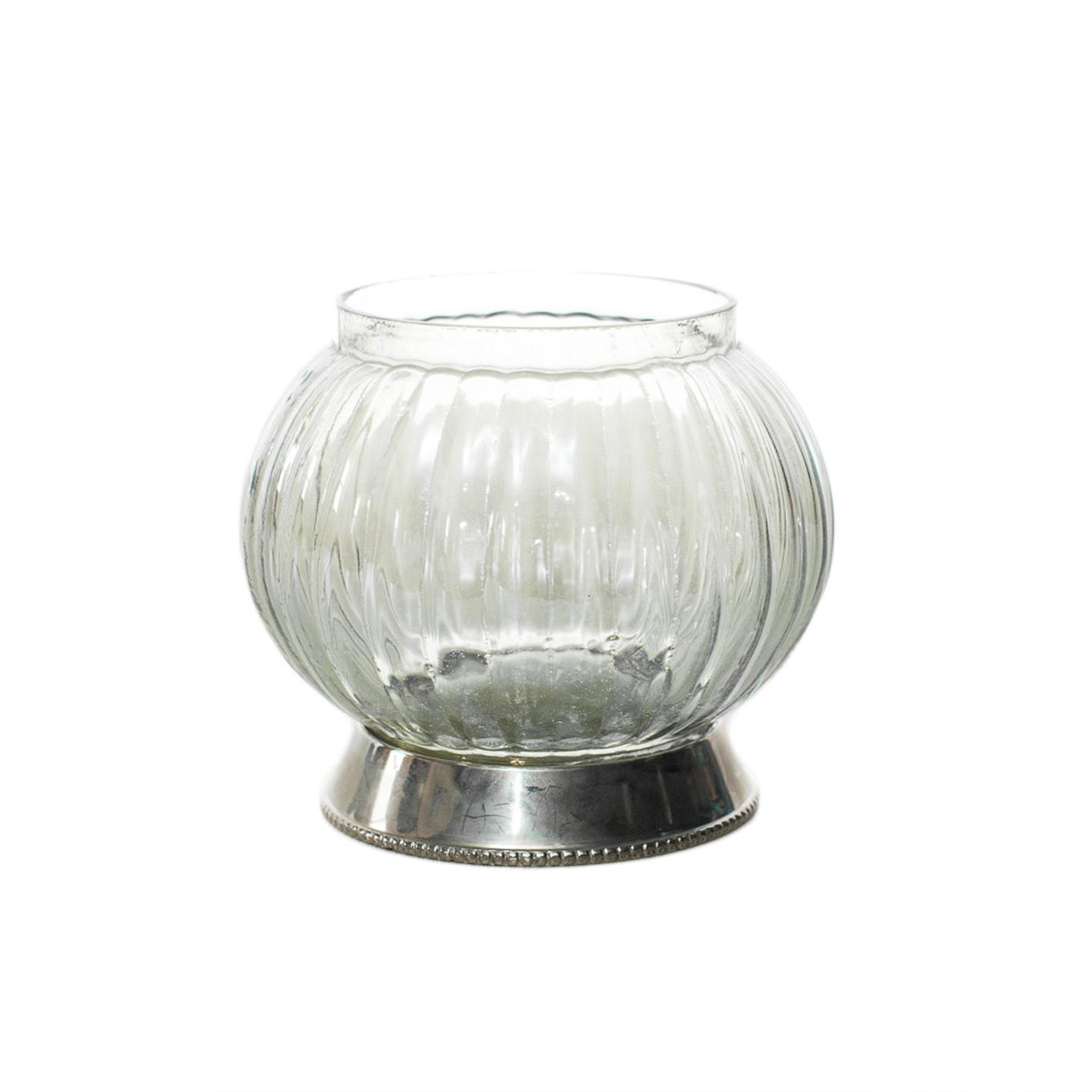 Silver & Glass Dish
