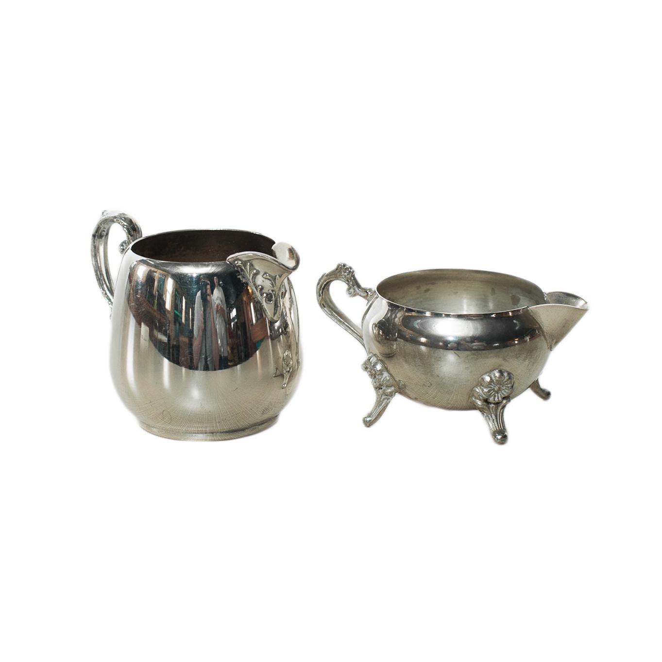 Silver Cream & Sugar Set