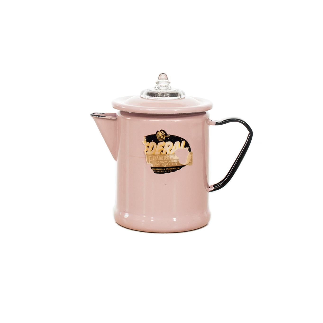 Pink Enamel Coffee Pot