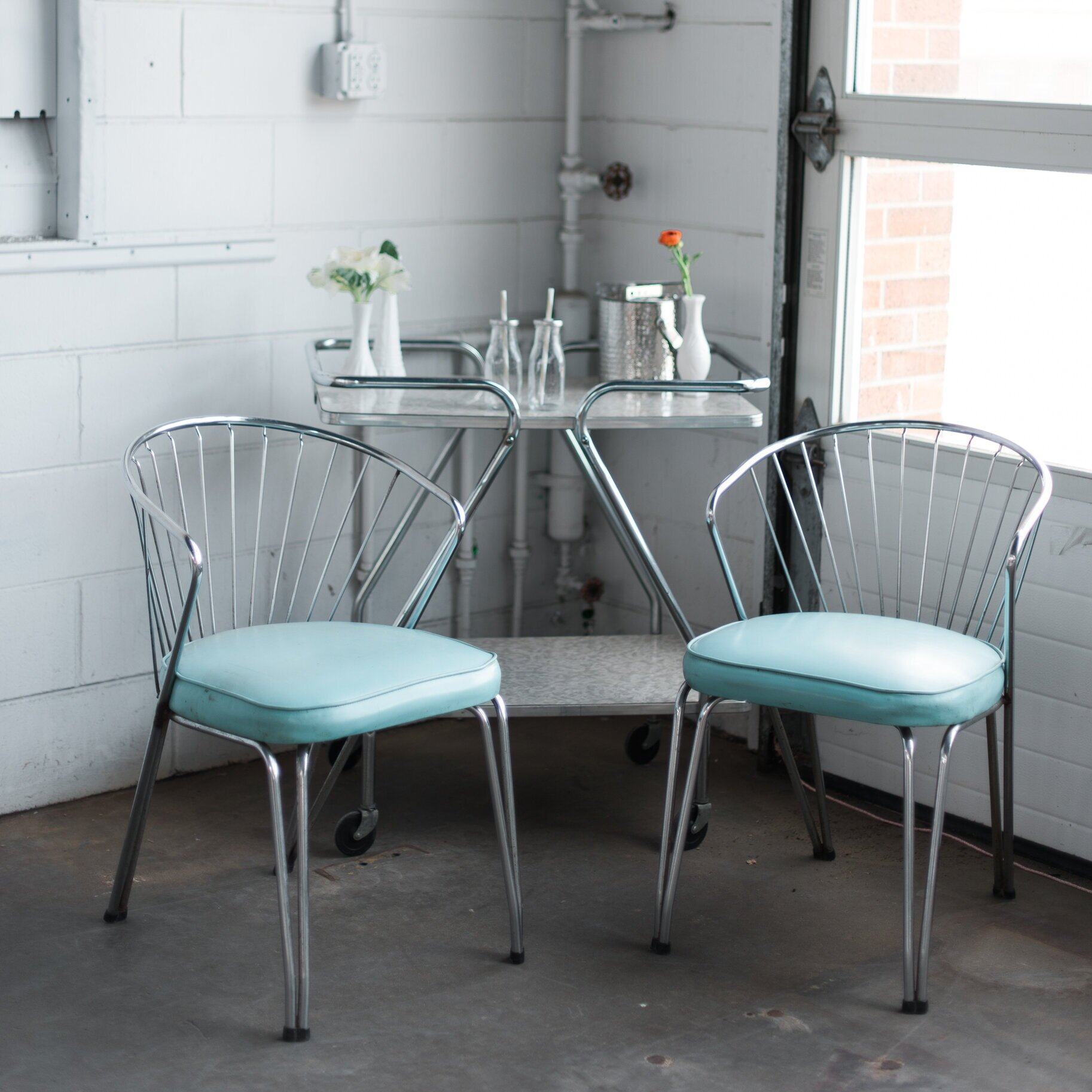 Chrome Turquoise Chair